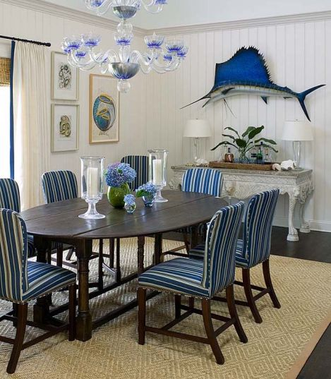 Blue Dining Room Decoration: Blue Beach House